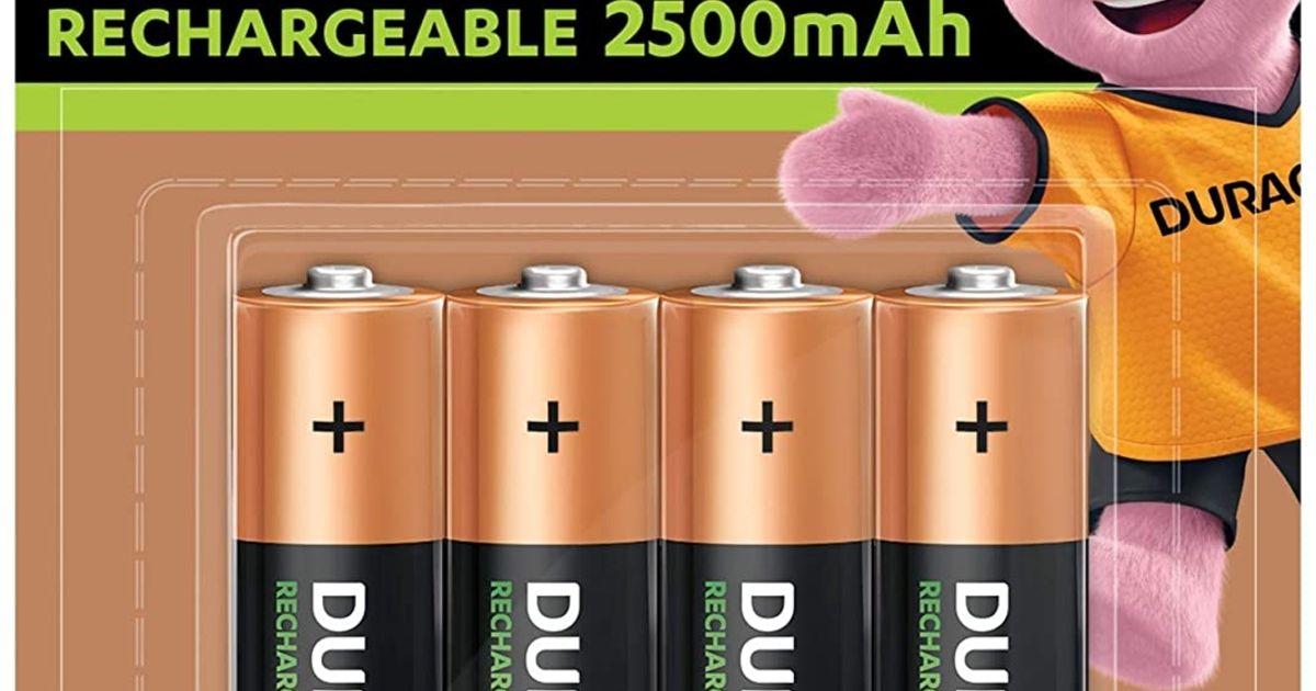 Bon plan – Les piles rechargeables AA Duracell Rechargeable 2500 mAh AA/HR6 NiMh à 9,59 €