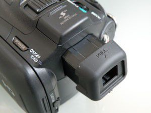 Canon HF G10 test review viseur
