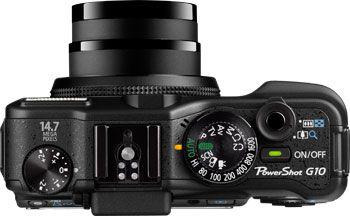 Canon PowerShot G10 dessus
