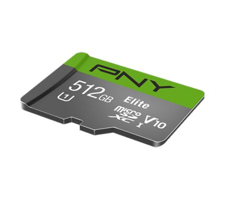 PNY 512 Go PNY Elite microSDXC avec adaptateur