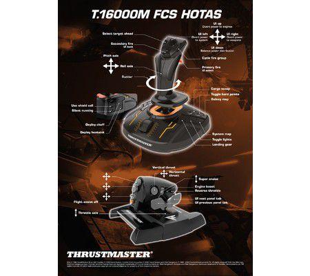 Thrustmaster T 16000M FCS Hotas, un joystick pour Elite