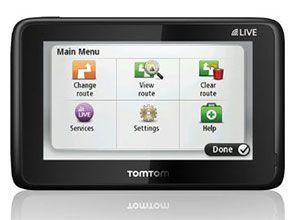 TomTom GO LIVE 1000 Menu