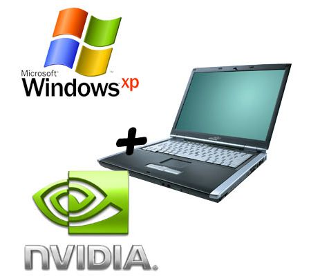 Laptop with XP and NVIDIA