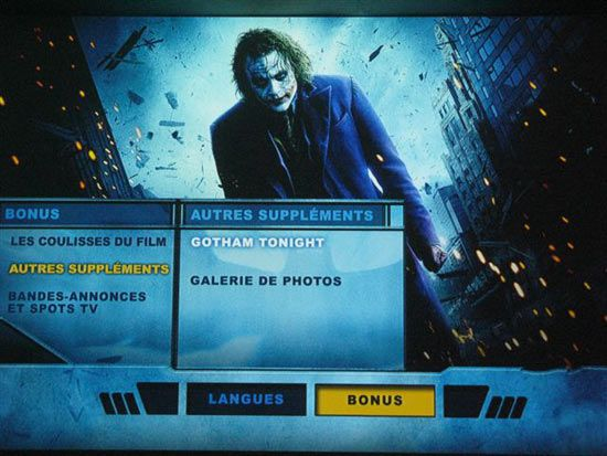 Dark knight menu