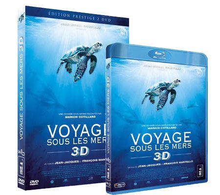 Voyage sous les mers (2D et 3D,  DVD et Blu-ray)