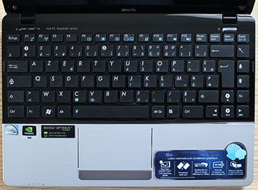 Asus Eee PC 1215N keyboard