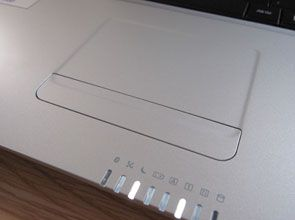MSI X-Slim X600 touchpad