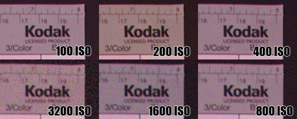 Pentax K20D sensibilités