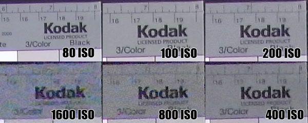 Ricoh R10 montée ISO