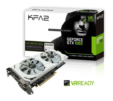 KFA² GeForce GTX 1060 EX OC White