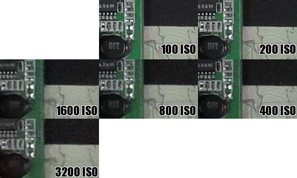 Sony HX100V iso