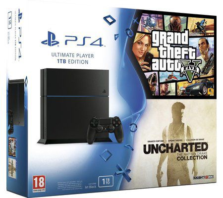 Sony PS4 1 To + Uncharted + GTA V