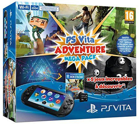 Sony PlayStation Vita + Voucher Adventure + Carte Mémoire 8 Go