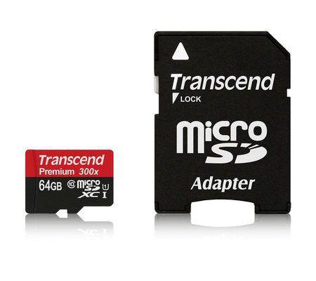 Transcend MicroSDXC Classe 10 UHS-I 300x 64 Go
