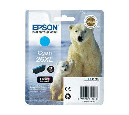 "Epson Cartouche ""Ours Polaire"" - Encre Claria Cyan"