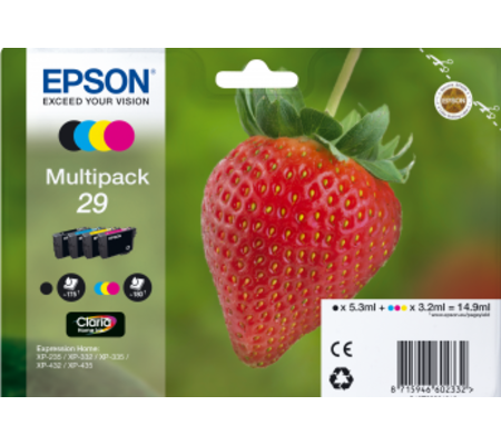 Epson Cartouche Fraise Encre Claria Home Multipack