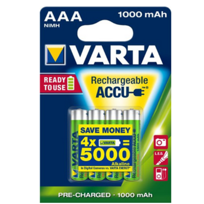 Varta Accu Ready To Use AAA/HR03 1000 mAh : au dessus du lot