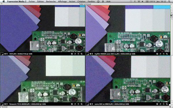 comparaison bruit électronique F80 EXR 800 ISO