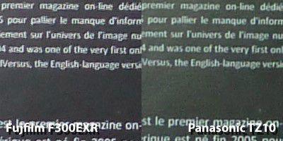 F300exr tz10 texte