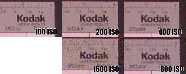 Nikon Coolpix S50c : montée iso