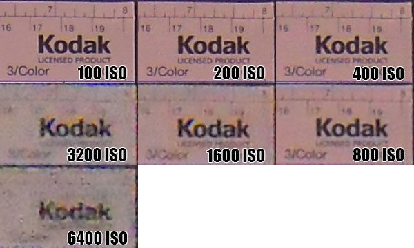 Nikon Coolpix S620 montée ISO