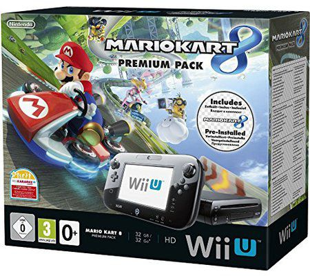 Nintendo Wii U 32 Go noire + Mario Kart 8 préinstallé
