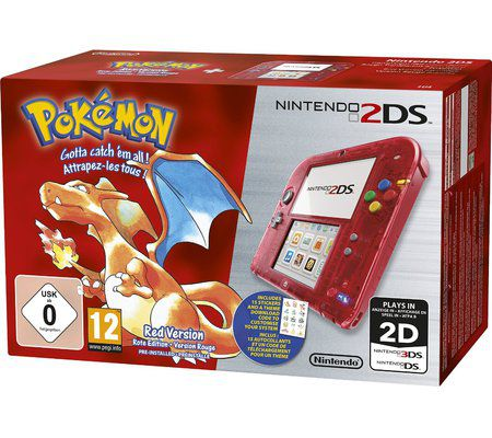 Nintendo 2DS + Pokémon rouge