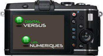 Olympus E-P3 test review vue de dos interface