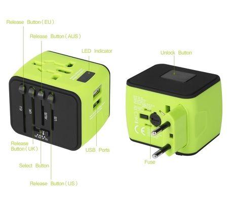 Uvistar Adaptateur de voyage secteur et USB US / EU / UK / AUS