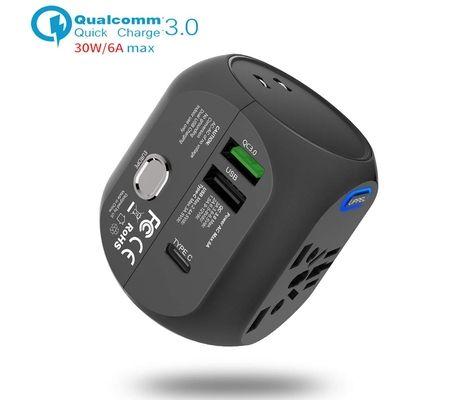 Milool Adaptateur avec QC3.0 Charge Rapide et USB (US/EU/UK/AU) 30W