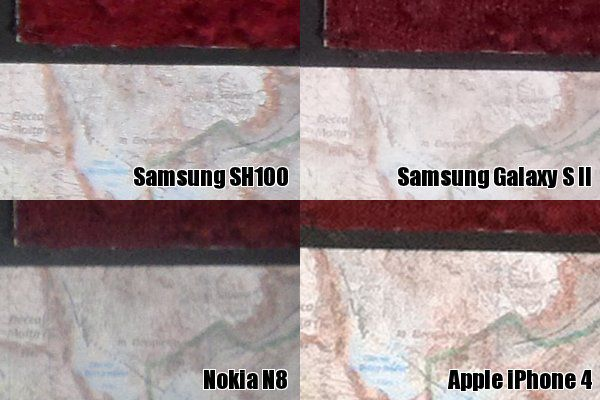 SH100 N8 Galaxy S II iPhone 4 2