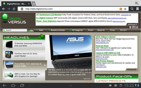Samsung gamaxy tab 10 web