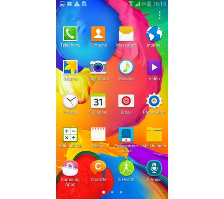 Samsung Galaxy S5 : la galerie de l'interface