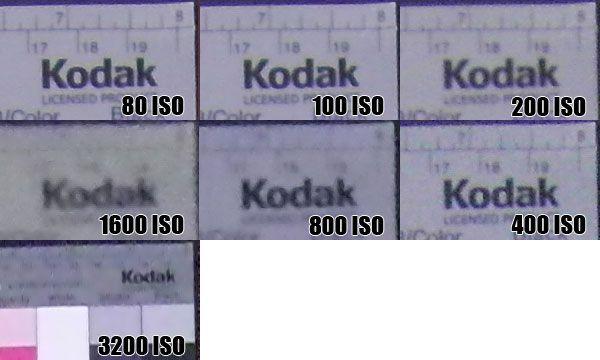 Samsung NV100HD sensibilité ISO