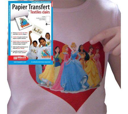 Micro Application Papier transfert pour textiles clairs
