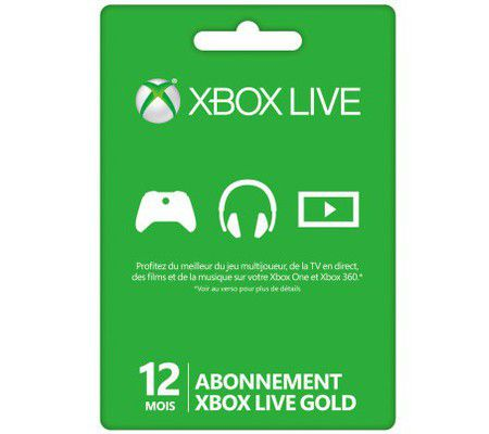 Microsoft Abonnement Xbox Live Gold 12 mois