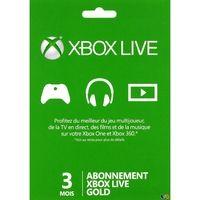 Microsoft Abonnement Xbox Live Gold 3 Mois