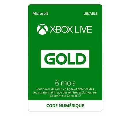 Microsoft Abonnement Xbox Live Gold 6 mois