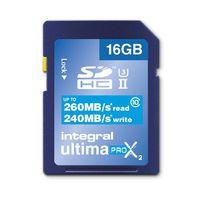Integral SDHC Ultima Pro X2 16 Go 260/240/MB/s