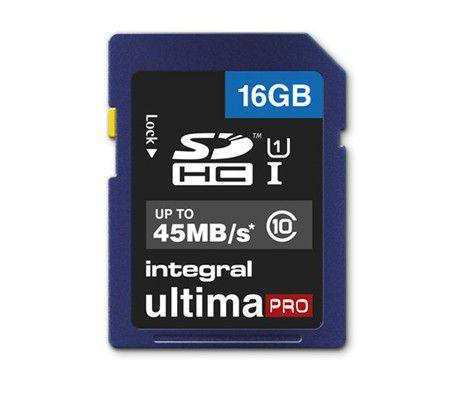 Integral SDHC Ultima Pro 16 Go 45MB/s