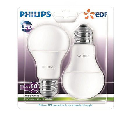Philips LED E27 8W 2700K