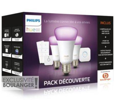 Philips Hue White and Color Ambiance + détecteur + variateurs