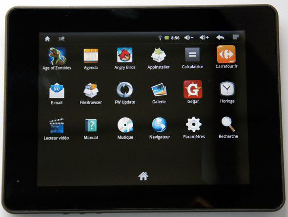 Carrefour touch tablet ct704 menu