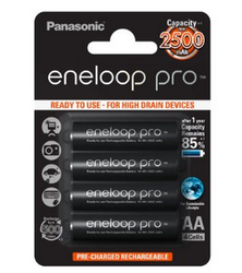 Panasonic Eneloop Pro 2500 mAh: endurance au long cours