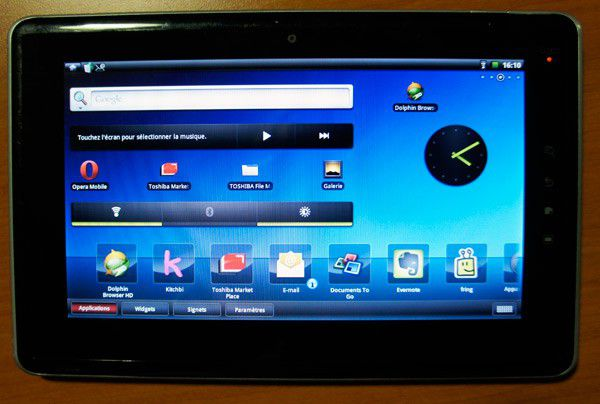 application tablette toshiba folio 100