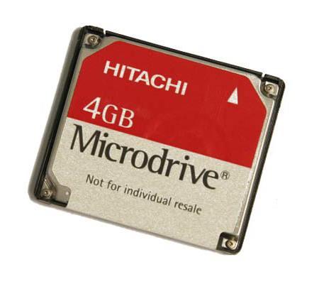 Hitachi Microdrive 4 Go