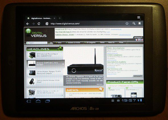 Archos g9 80 web