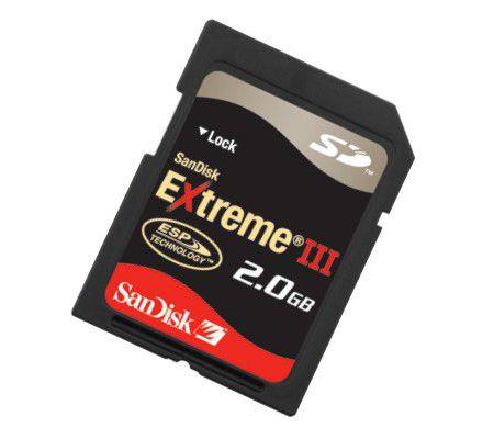 SanDisk SD Extreme III 2 Go