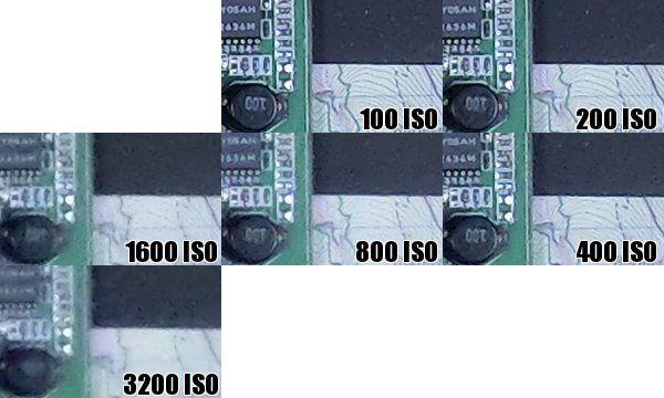 Casio ZR100 iso