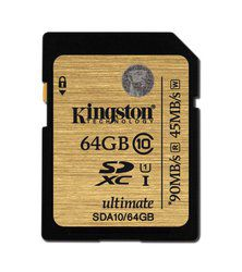 Kingston Ultimate SDA10 64Go SDXC, une carte garantie à vie